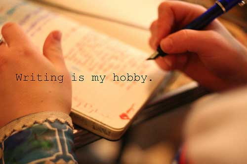 picture with writing is my hobby written on it