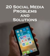 Person holding mobile in hand with social media icons telling about the social media problems
