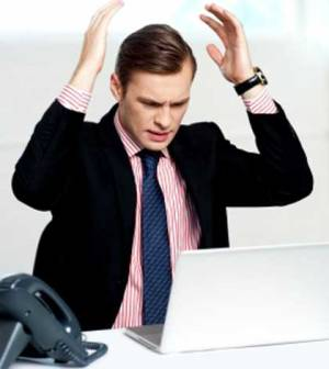 A man upset with the reality of blogging