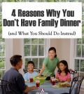 family sitting together at dinner time