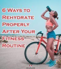 Girl drinking after workout showing ways to rehydrate