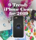 Black stylish iPhone case and many colorful iPhone cases in the background