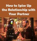 Man and woman holding hands on a date trying to spice up their relationship