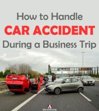 car accident scene on highway