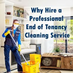 A professional cleaner from end of tenancy cleaning service inside a house
