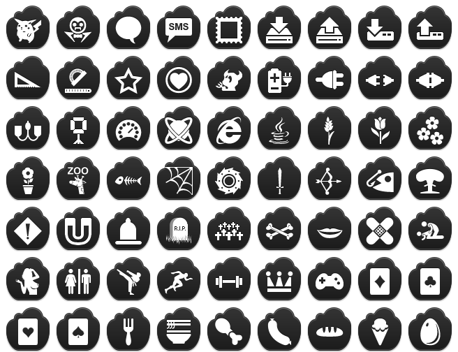 Free Black Cloud Icons