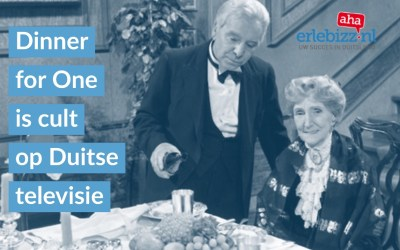 Engelse sketch Dinner for One is tijdens oudejaarsavond cult op Duitse tv