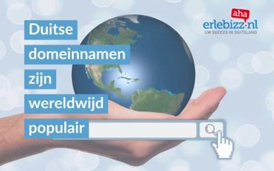 Duitse domeinnaam bijzonder populair op internet