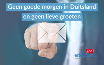 Geen Guten Morgen en liebe Grüße in Duitse mail gebruiken