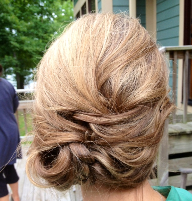 Bridesmaid hairstyle back