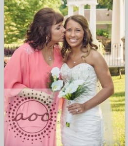 Mother of the Bride: Hair and Makeup by Martie. Bride: Makeup by Martie.