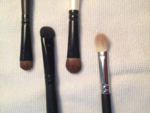 Various eyeshadow brushes.
