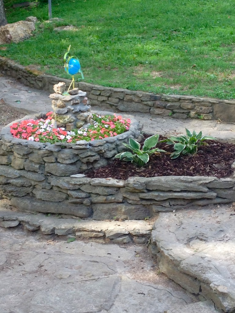 rock flower beds