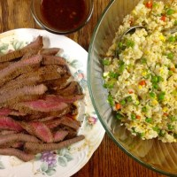 Homemade Chinese Food | Marinated Teriyaki Steak and Easy Fried Rice