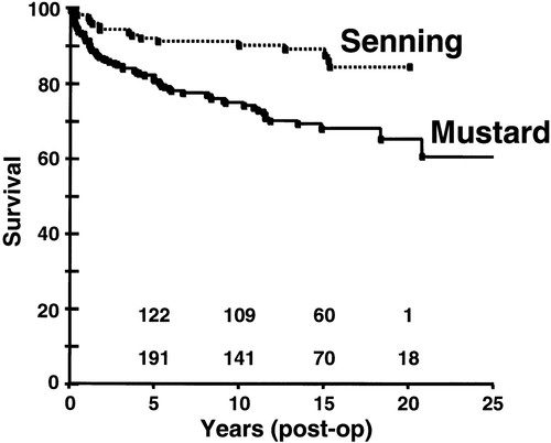 Comparison of Long-Term Outcomes of Atrial Repair of