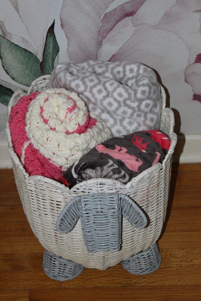 Lamb Wicker Storage Basket