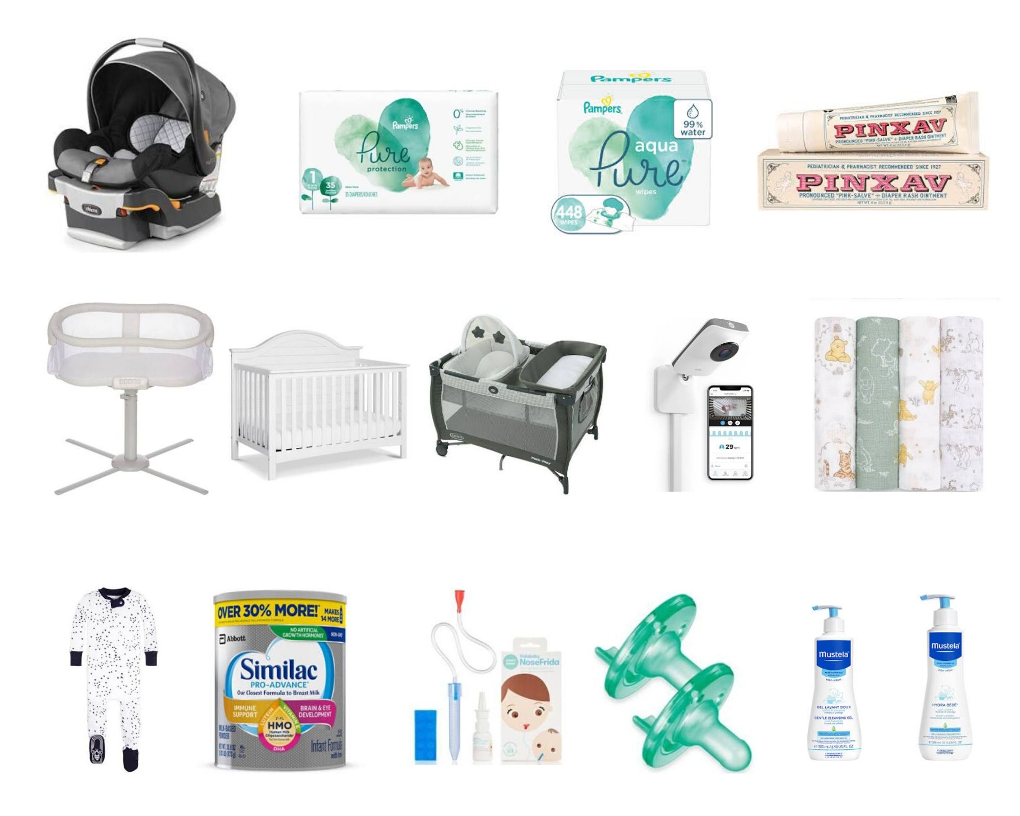 The Only 12 Things You Need For A Newborn