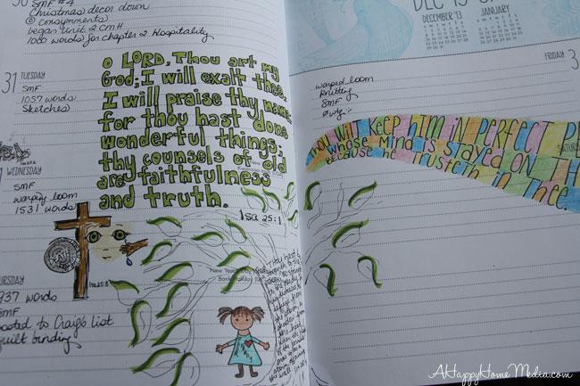 Bible study art journal