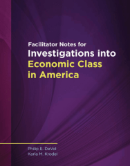 Investigations into Economic Class in America workbook
