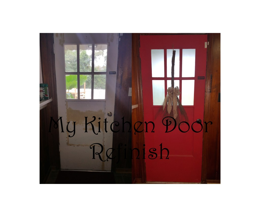 Have an old door that needs some love? See how I updated my kitchen door with just a little paint and some thinking outside the box.