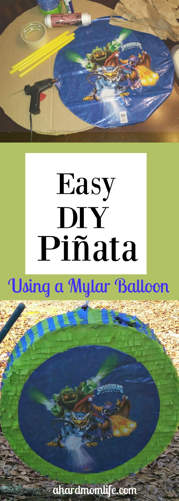 Making your own pinata doesn't get much easier. Add decoration and a fun game to your next party without much effort.