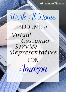 Work-At-Home ~ Become a Virtual Customer Service Rep for Amazon