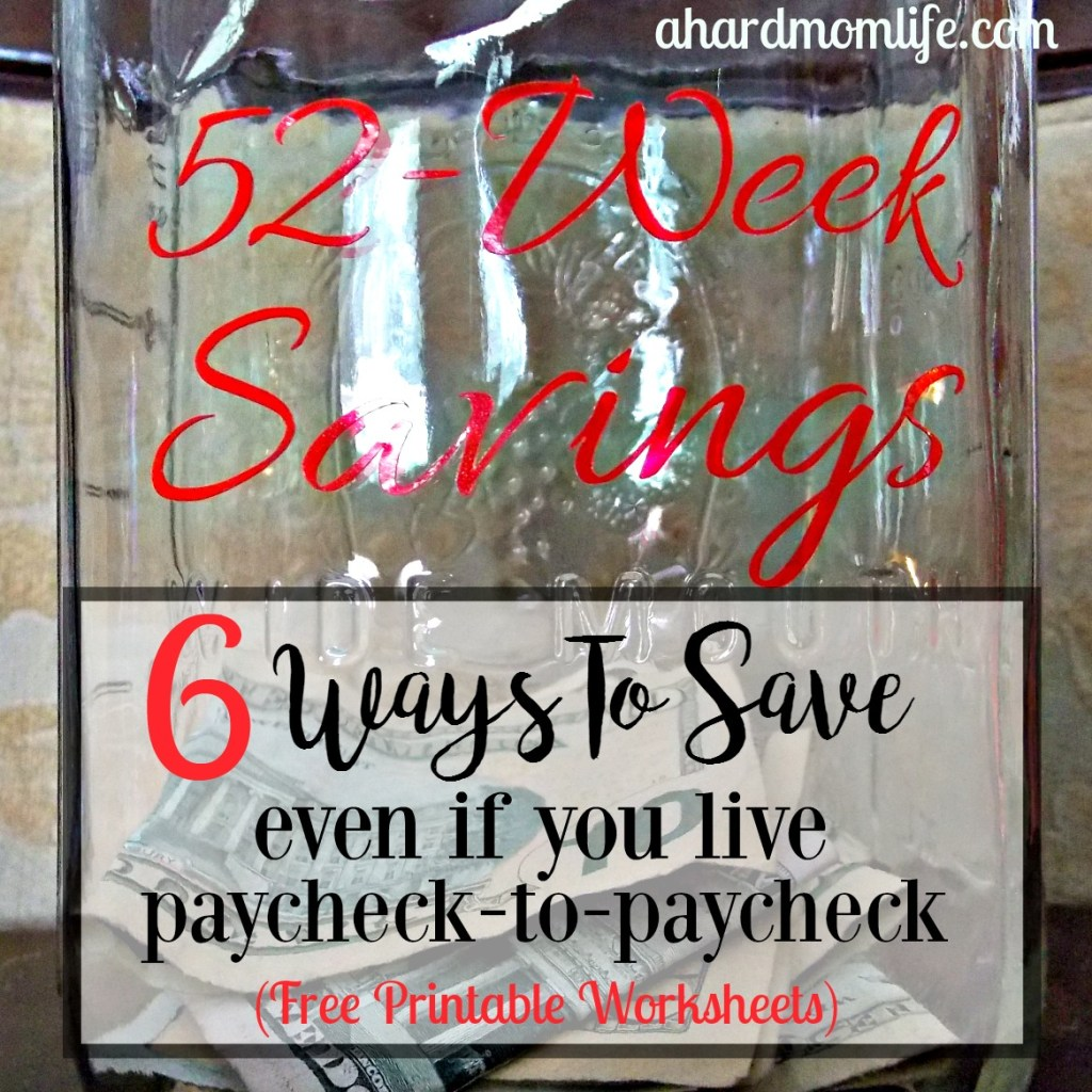 6 Ways To Save Money   Even If You Live Paycheck-to-Paycheck