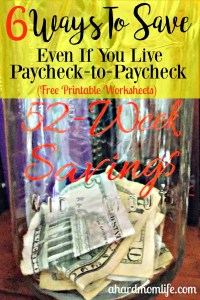 6 Ways to Save Money, Even If You Live Paycheck-to-Paycheck