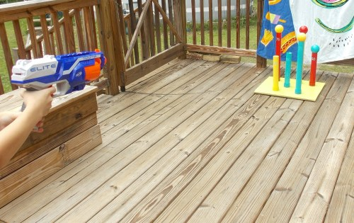 If you're looking for some summer fun. this DIY Nerf Target & Ring Toss Game couldn't be easier.
