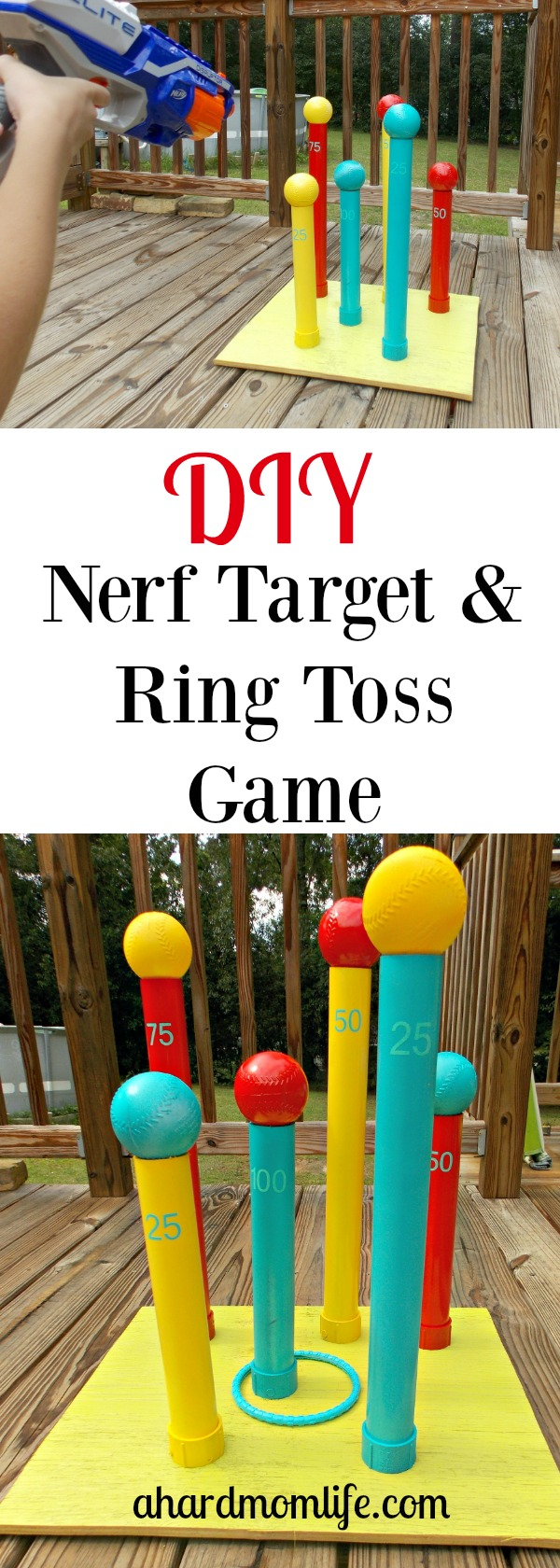 The perfect game to keep the kids busy this summer. You'll be surprised by how easy this game is to make.