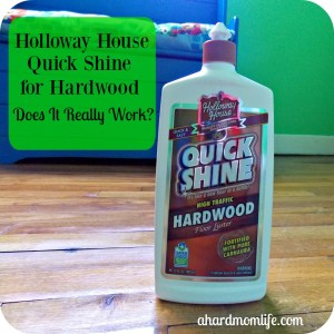 Holloway House Quick Shine High-Traffic for Hardwood | Does it really work?