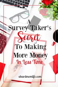 Survey Taker's Secret to Making More Money in Less Time