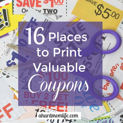 Trying to cut your grocery bill? These 16 places to print valuable coupons is the perfect place to start.