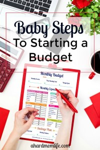 Baby Steps to Budgeting | Taking Budgeting One Step at a Time