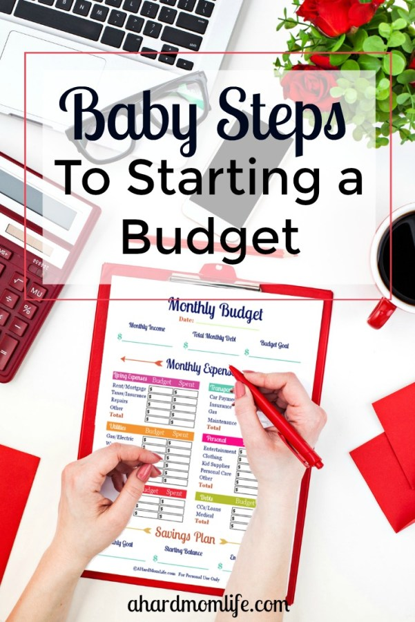 Looking to start a budget but not sure how to save without cutting out everything? You don't have to stop spending money cold turkey. Check out how to start a budget while taking baby steps.