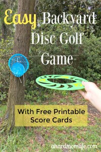 Easy Backyard Disc Golf Game for the Whole Family