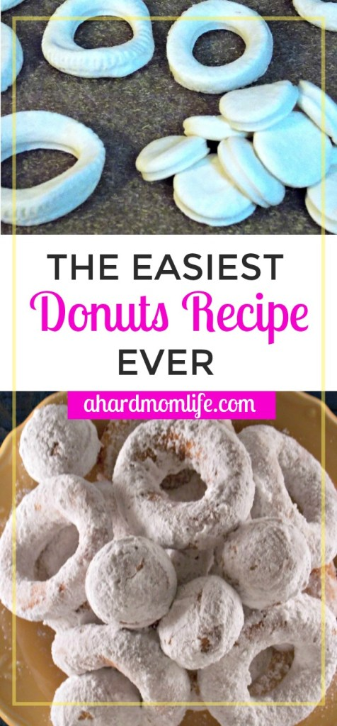 Looking for an easy donut recipe? Well, look no further. It doesn't get easier than these donuts. Click through to check out the recipe.