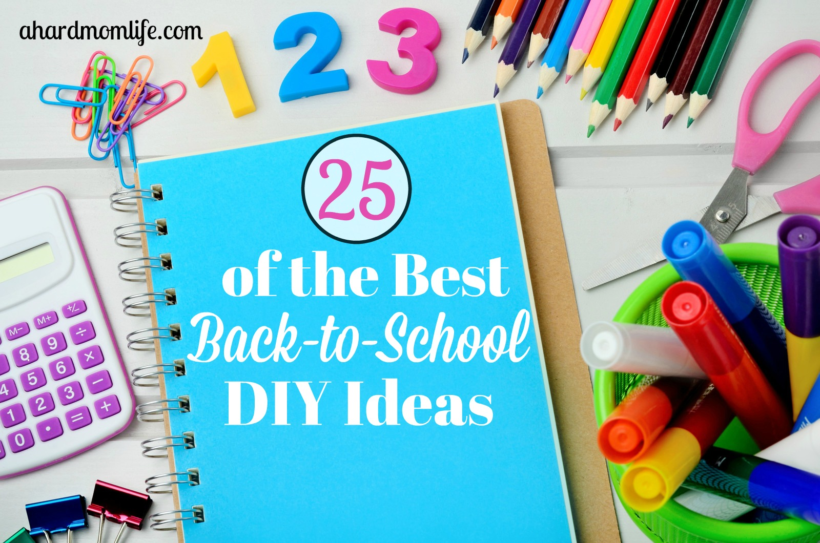 Want to do a DIY project with your kids before they head back to school? Here are 25 of the best back-to-school DIY ideas out there.