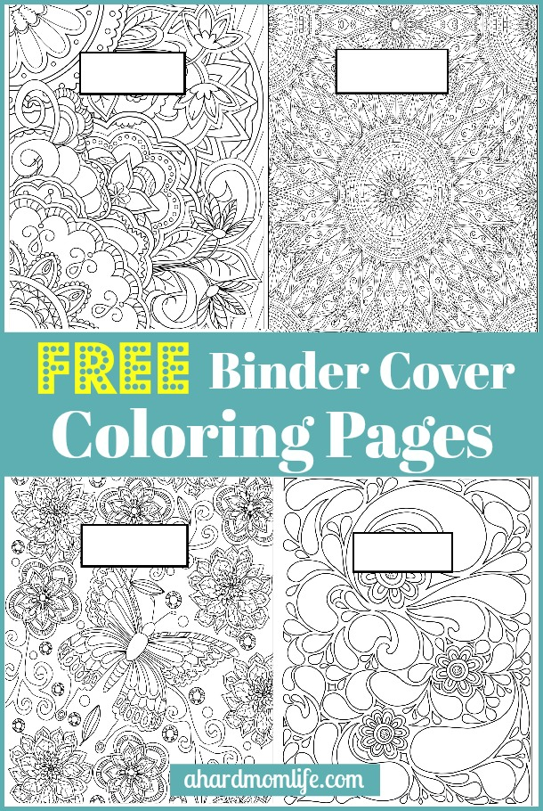 Free binder cover coloring pages a hard mom life for Binder coloring pages