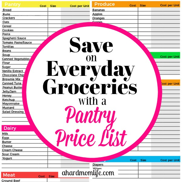 Are you serious about saving money on groceries? Keeping up with the best prices available is a must. Do it easily with a free pantry price list.