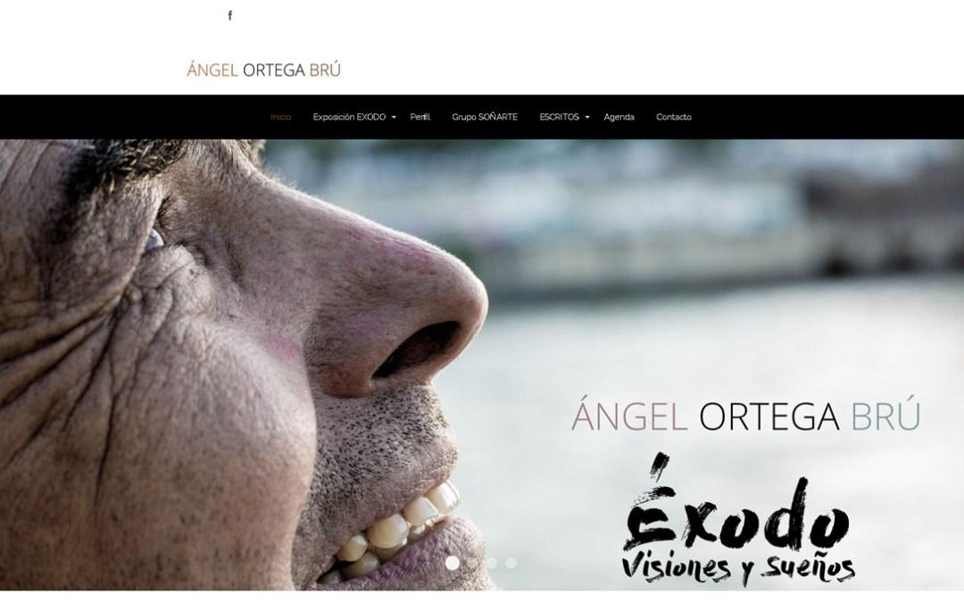 Diseño de página web, para el artista «Ángel Ortega Brú»