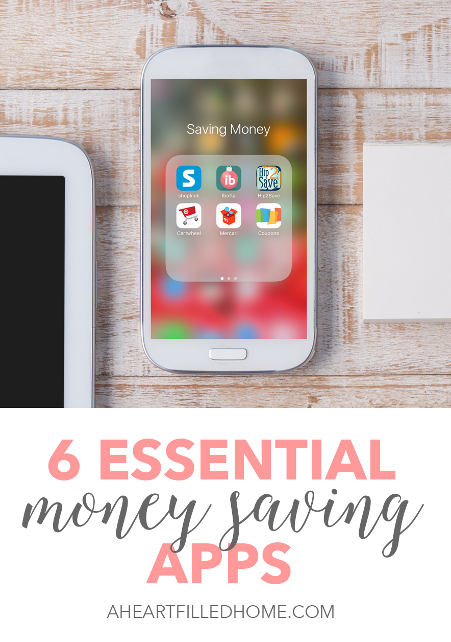 Here are 6 Essential Money Saving Apps to help you save money. Click through to download these amazing apps and start saving money!