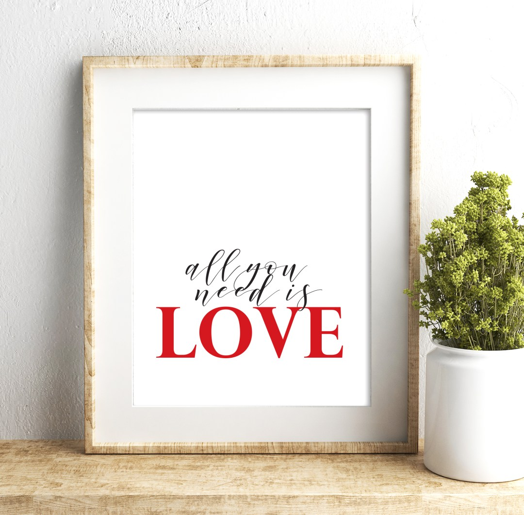 Free Valentine's Day Printable Art from aheartfilledhome.com. Click to download your free printables!