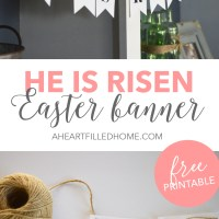 He Is Risen Easter Banner - Free Printable