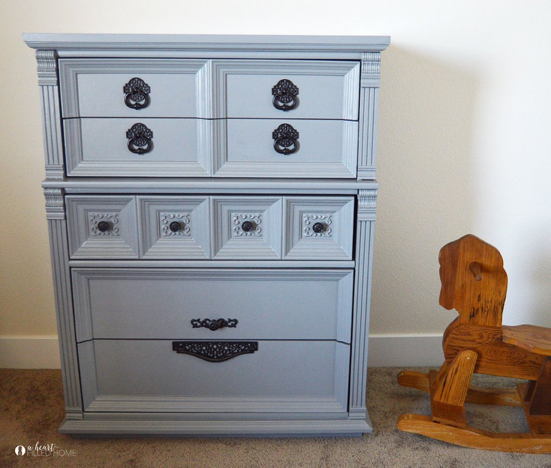 This antique dresser makeover was such a beautiful transformation! Read more at aheartfilledhome.com