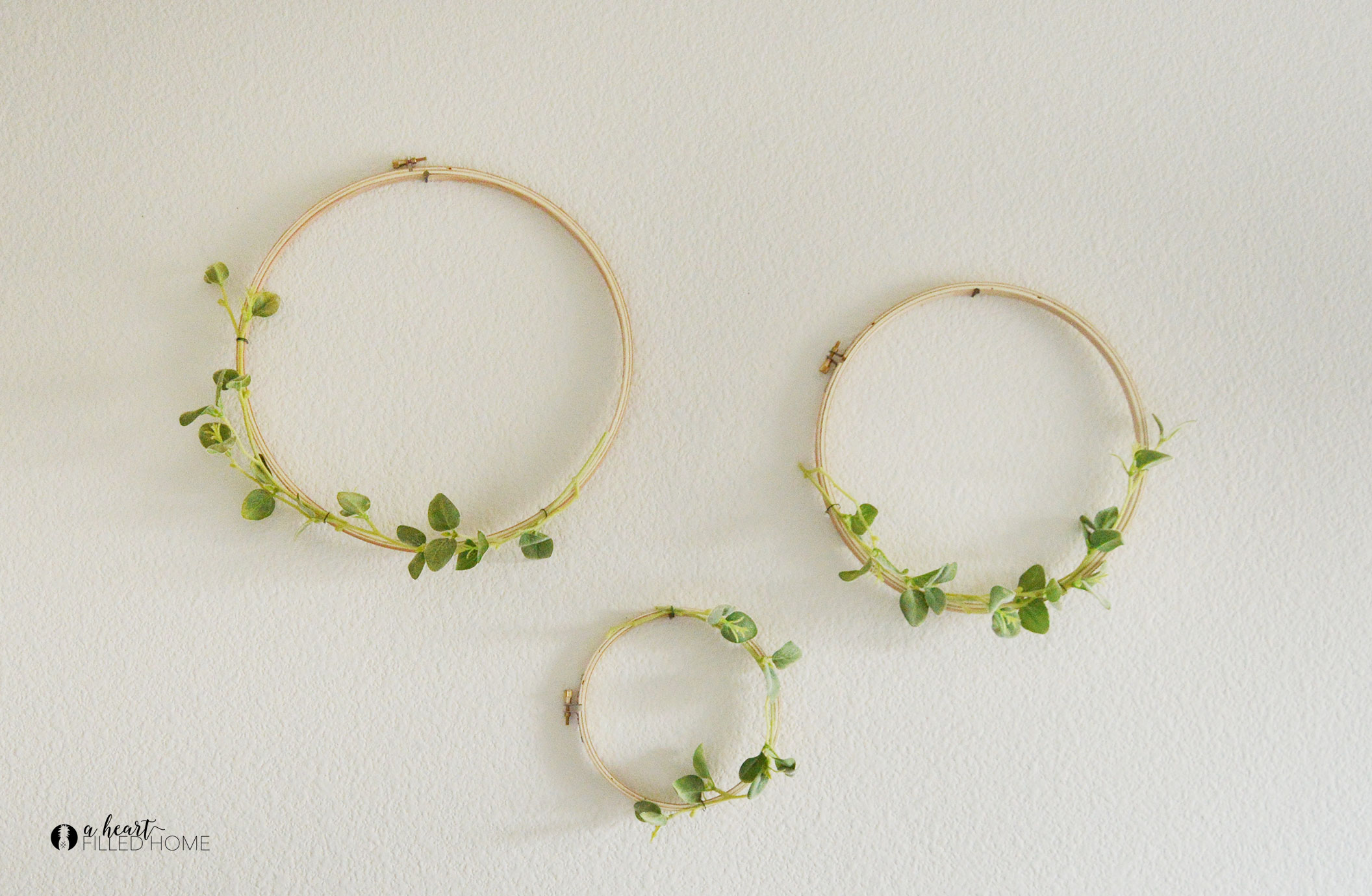 Easy DIY Hoop Wreath A Heart Filled Home DIY Home Decorating Amp Money Saving Tips