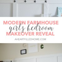 Modern Farmhouse Girl's Bedroom Reveal + ORC Week 6