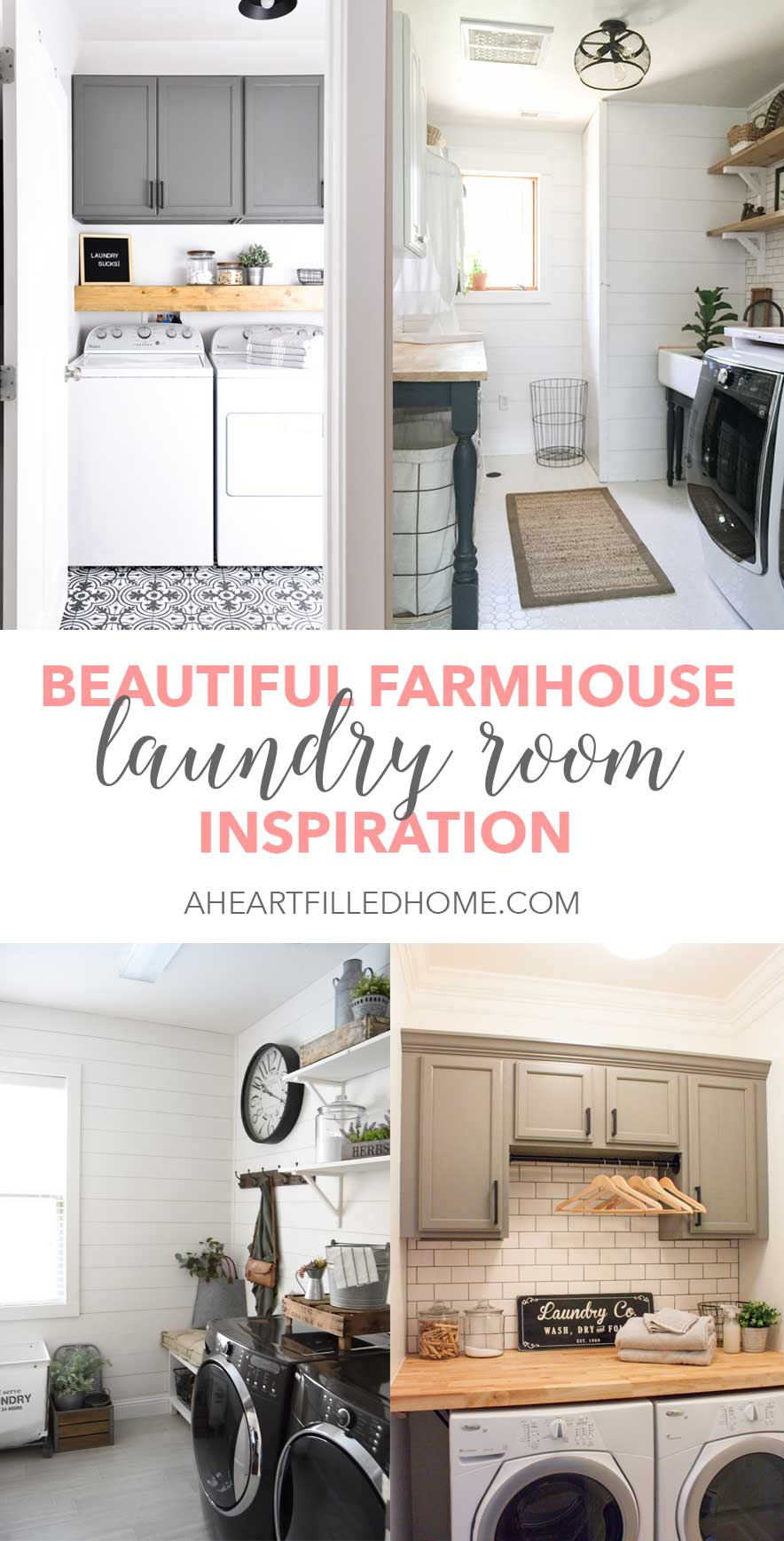 Beautiful Farmhouse Laundry Room Inspiration From Aheartfilledhome