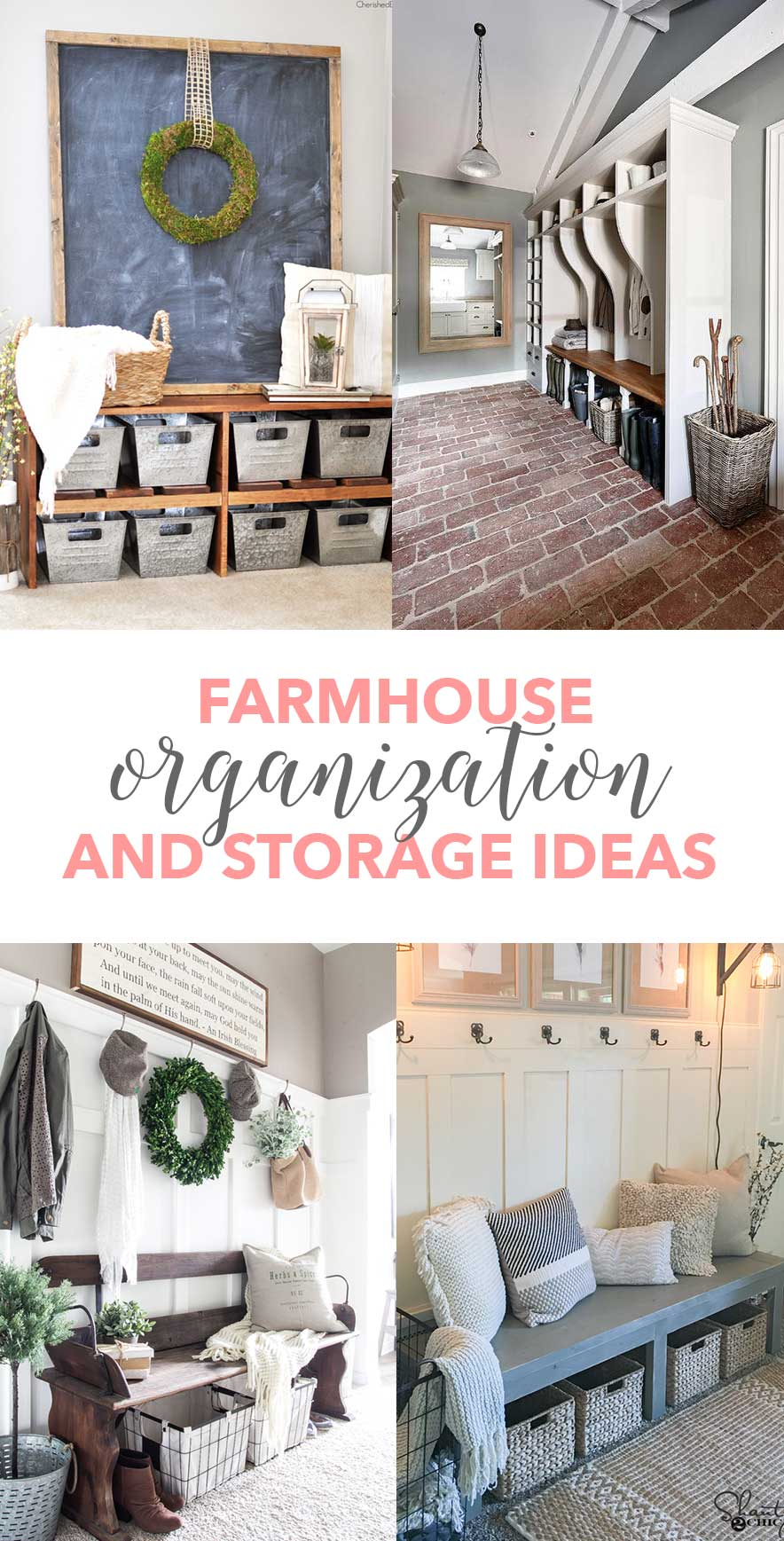 Farmhouse Organization and Storage Ideas