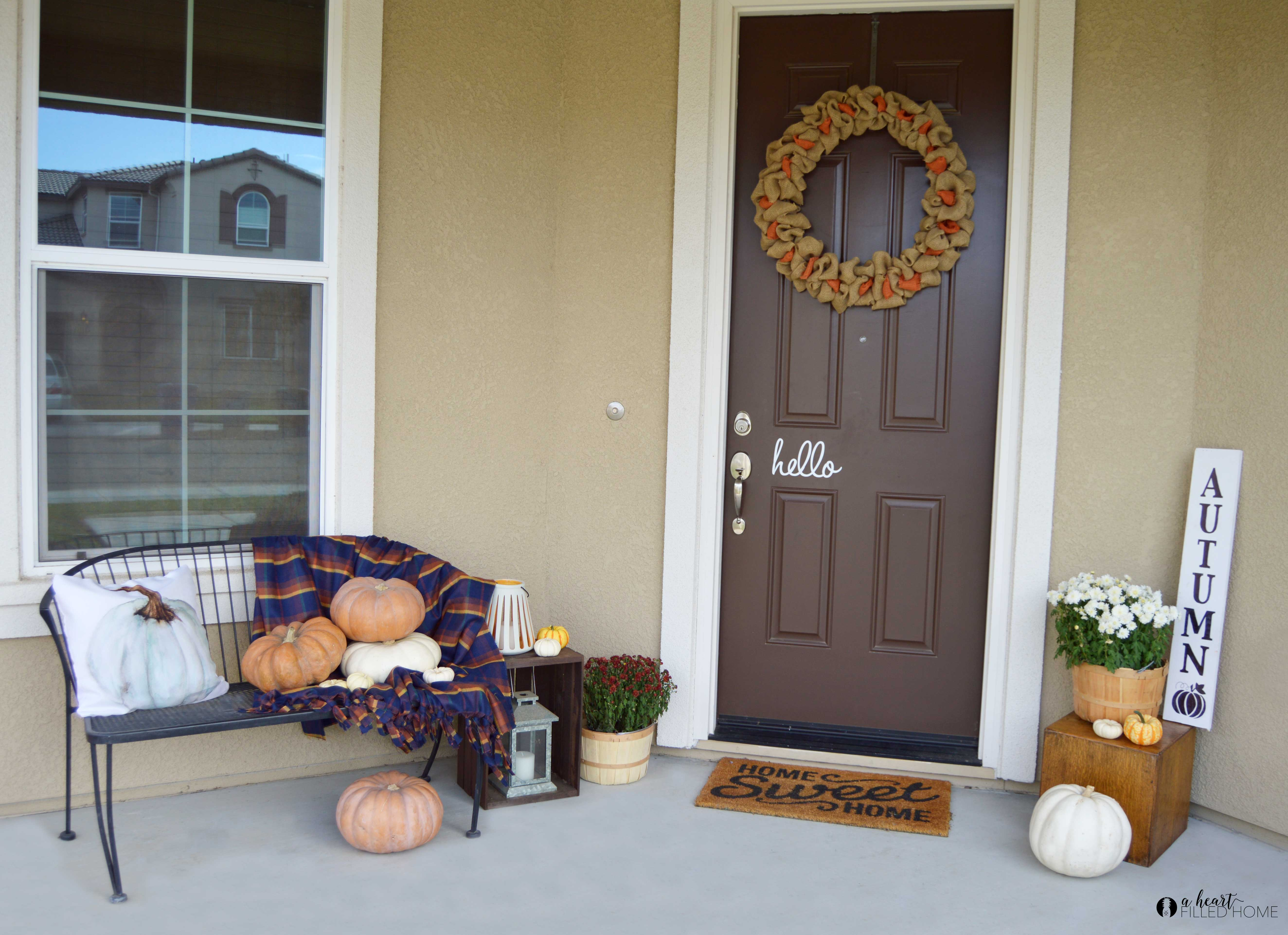 A Welcoming Fall Porch  5 Fall Porch Decorating Tips  A
